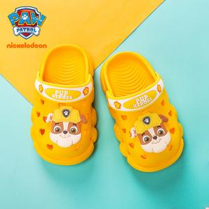 汪汪队儿童凉拖鞋卡通男童拖鞋夏季女幼儿小童宝宝防滑室内洞洞鞋