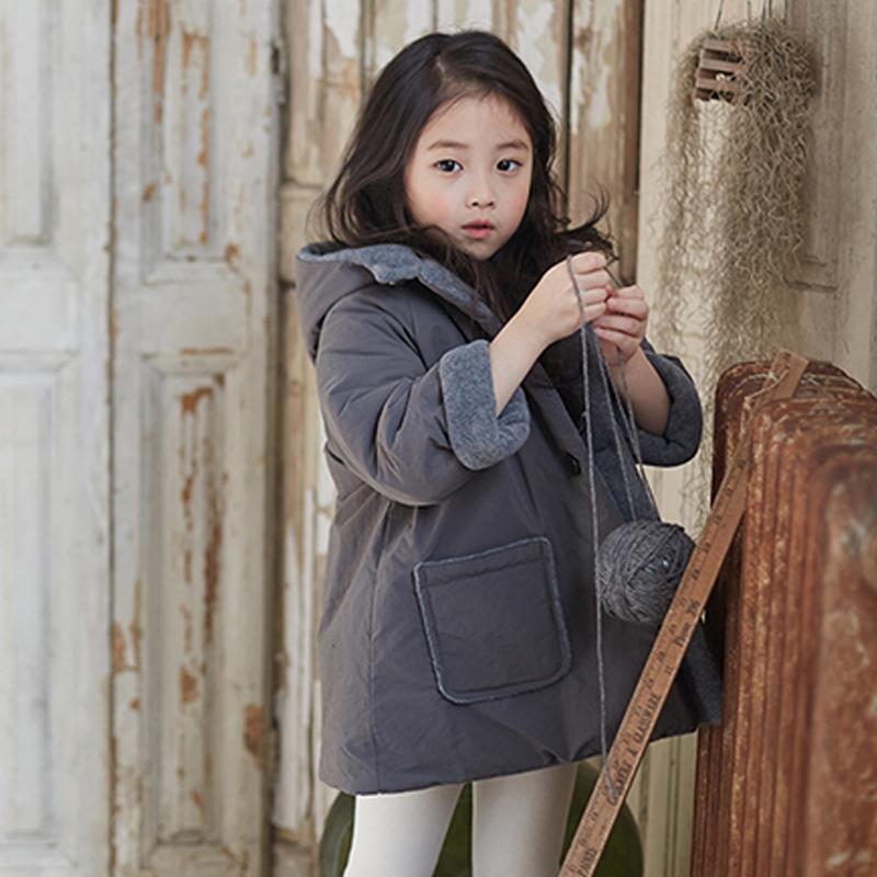 2019冬韩版新款女童加厚棉衣小女孩连帽棉袄中小儿童保暖棉服外套