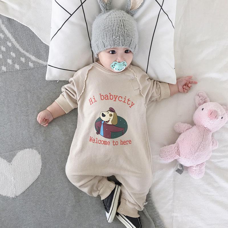 婴儿连体衣套装春装可爱超萌秋装哈衣6-12个月衣服春秋薄宝宝爬服