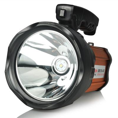 手提探照灯可充电式远射超亮多功能强光手电筒家用户外远射LED灯 - 图1
