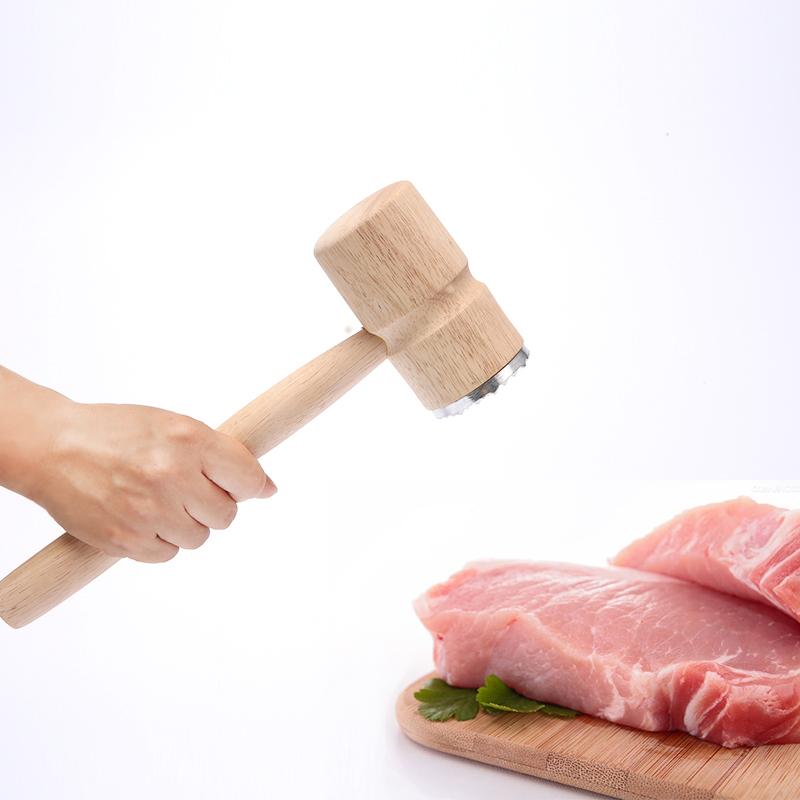 原森太实木肉锤工具牛排锤子双面可用猪排锤敲肉松肉锤肉器嫩肉锤