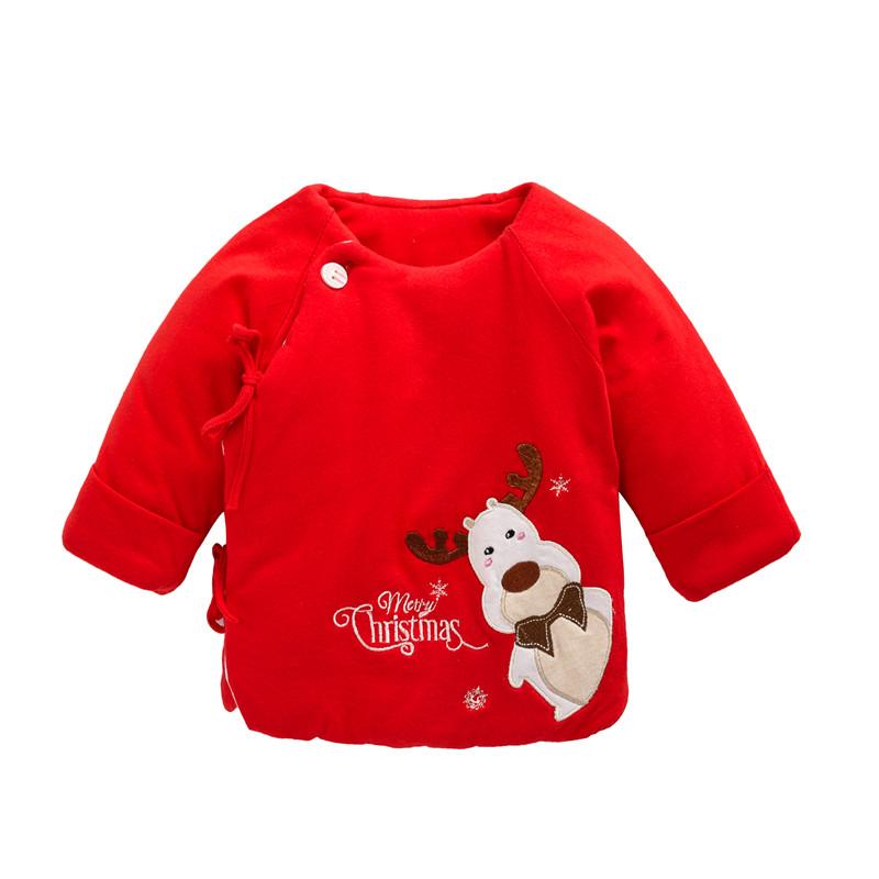 婴儿棉衣服新生儿上衣春秋冬季纯棉加厚半背初生儿小棉袄宝宝棉服