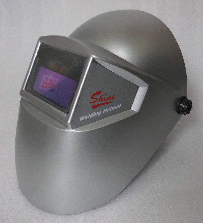 迅安太阳能液晶自动变光面罩电焊面罩氩焊帽氩弧焊防护面罩帽