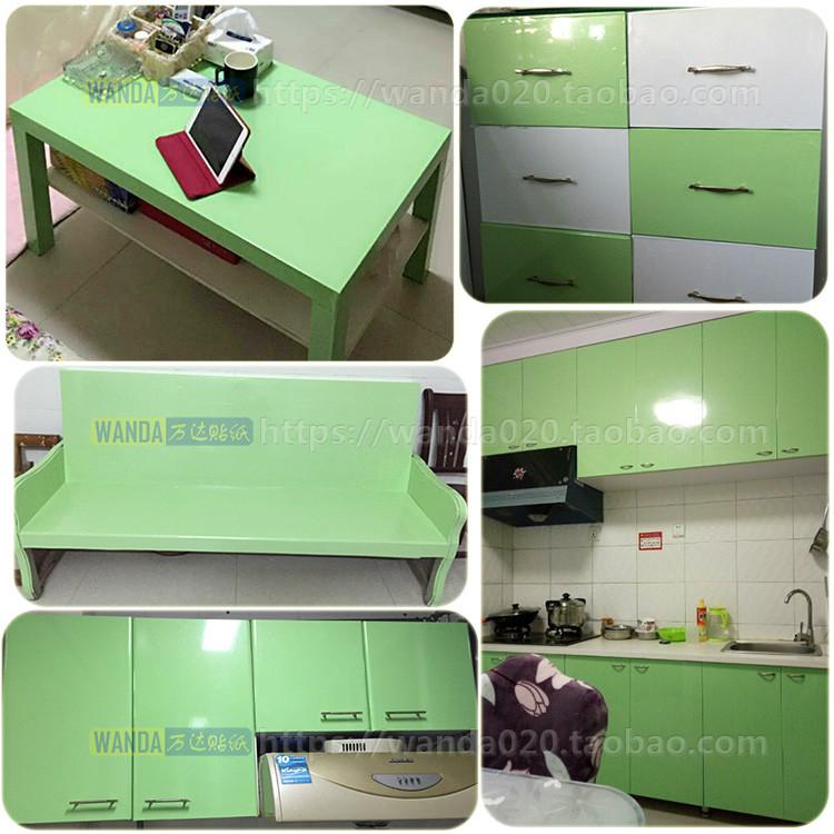 床头柜家具翻新贴膜自粘防水衣柜橱柜子冰箱空调电脑桌书桌面贴纸