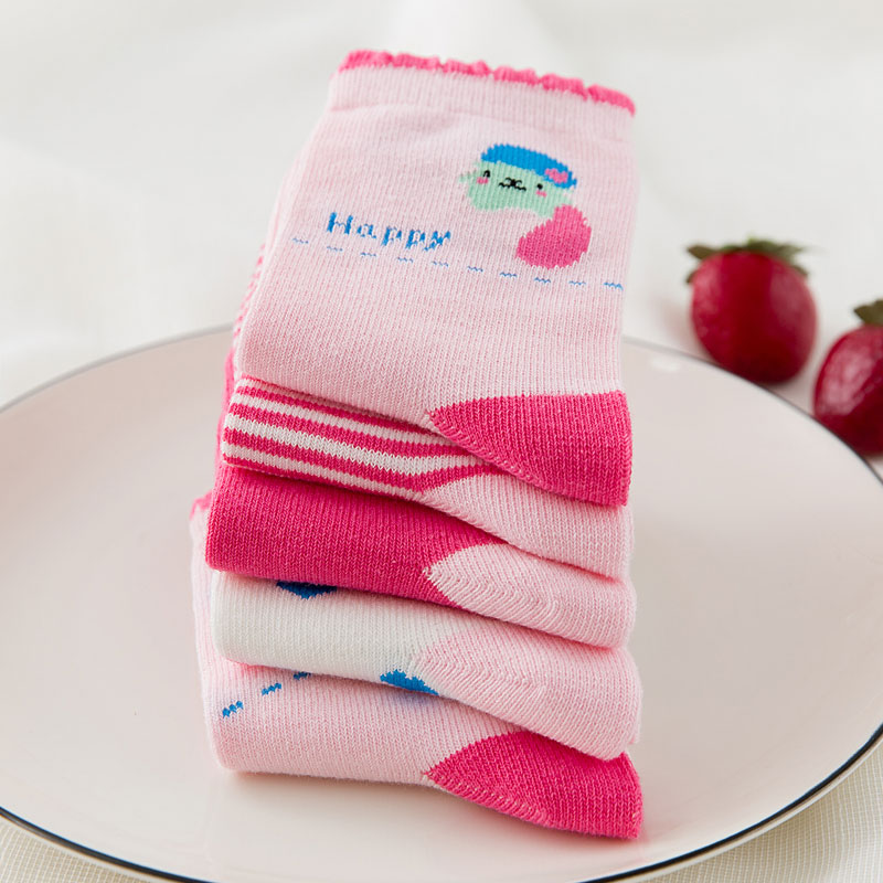 儿童袜子纯棉秋冬宝宝婴儿棉袜童袜男童女童中筒袜地板袜加厚保暖