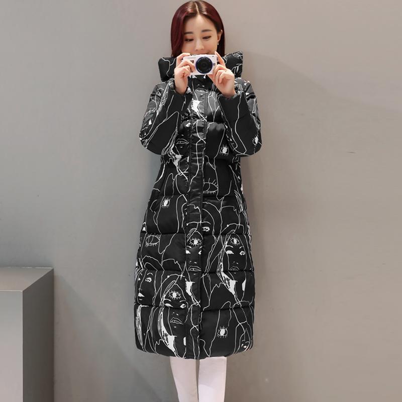 2018冬装新款加厚超长款过膝韩版修身收腰显瘦棉衣女羽绒棉服外套