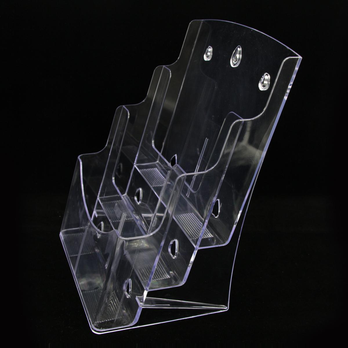 a4亚克力三层资料架盒宣传册展示架透明桌面目录彩页折页传单架子