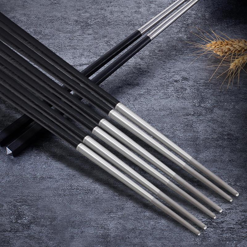博友制钛碳合金钛筷子防滑烫家用高档钛筷子单人非不锈钢礼盒套装【图4】