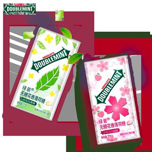 绿箭薄荷糖无糖新品糖果香体约会糖清新口气多口味5瓶口香糖组合