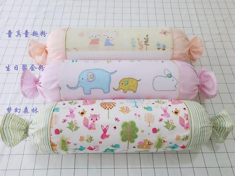 包郵可愛糖果圓柱圓柱可拆洗辦公室沙發護腰枕孕婦靠枕枕車枕定做