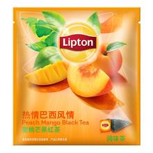 lipton tea Lipton Brazil Peach Mango fruit tea 10 pack tea bags Lipton tea bags triangle independence nectar