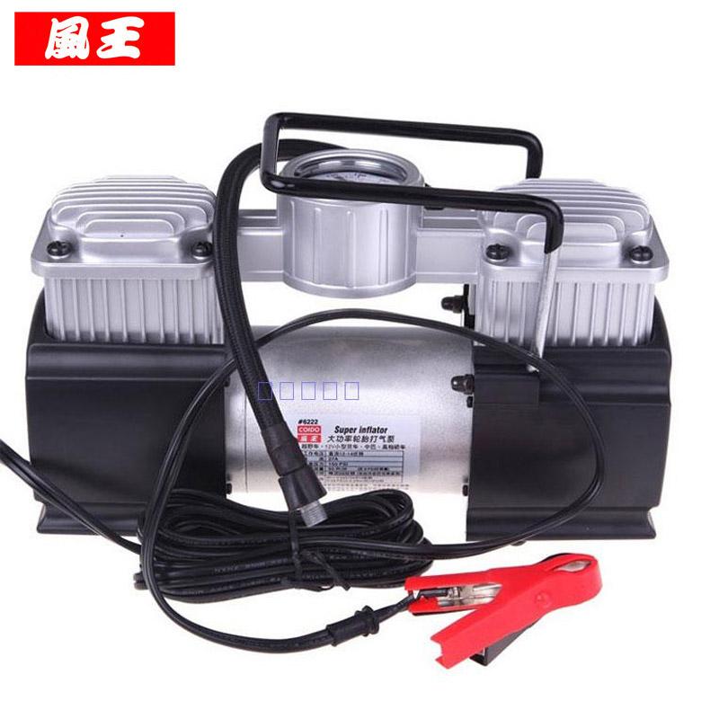 风王双缸车载充气泵6222大功率金属电动轮胎充气机汽车高压打气泵