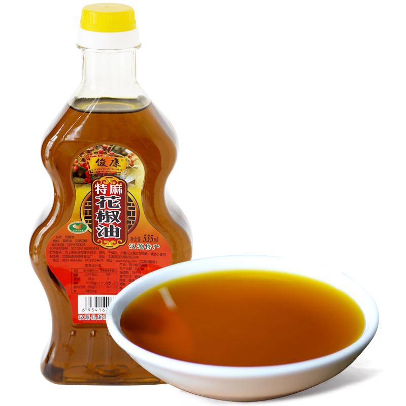 汉源花椒油特麻红花椒油535ml 四川特产麻椒油米线店麻油椒麻油