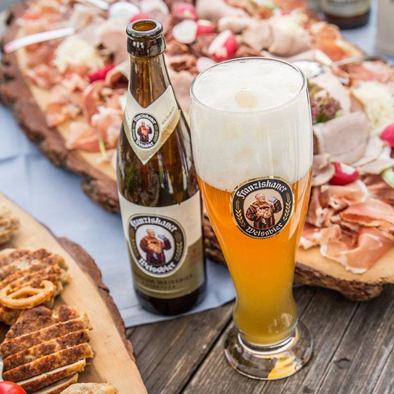 整箱德国风味啤酒Franziskaner范佳乐教士小麦白啤酒450ml*12瓶