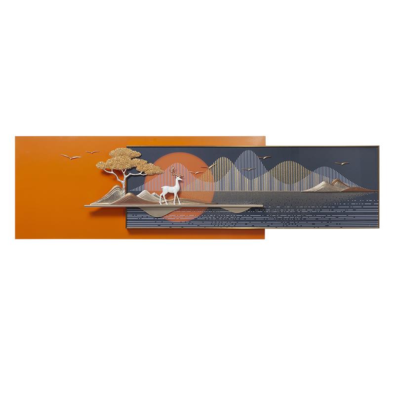 现代简约轻奢客厅装饰画沙发背景墙挂画抽象墙面山水壁画北欧高档