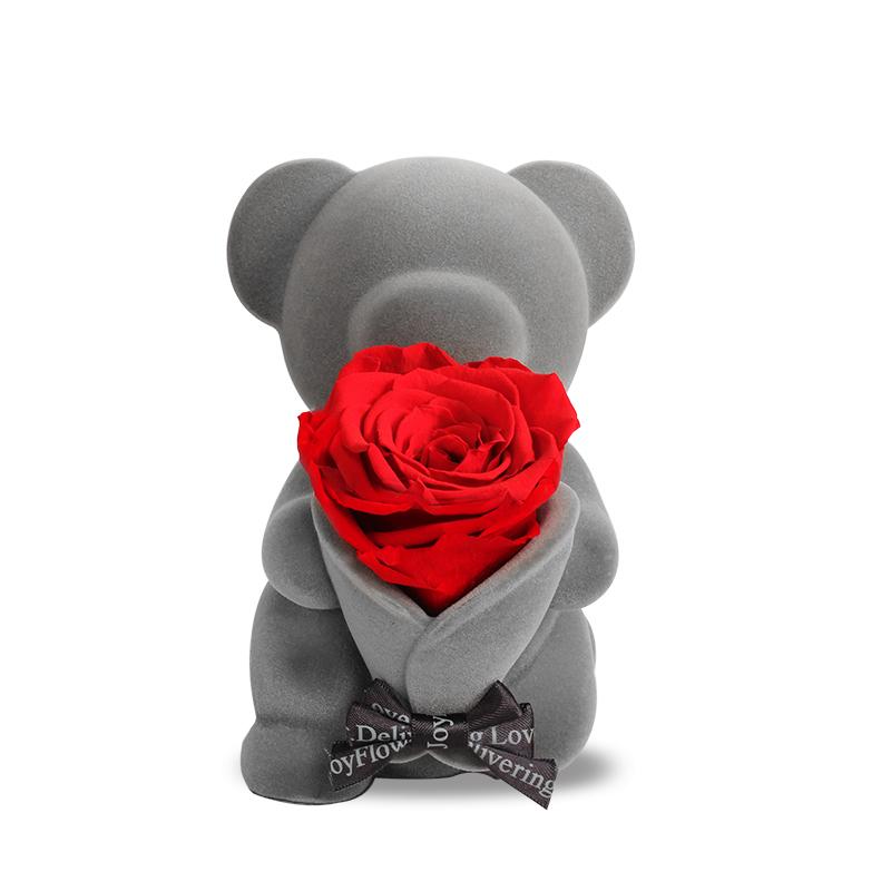 生日礼物 only 送女友永生玫瑰 rose 情人节求婚 永生花礼盒音乐小熊