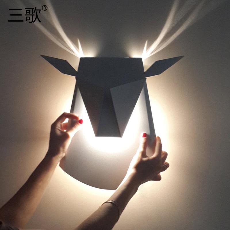 [淘寶網] 鹿頭壁燈創意北歐客廳臥室走廊過道個性現代簡約燈具牀頭鹿角壁燈