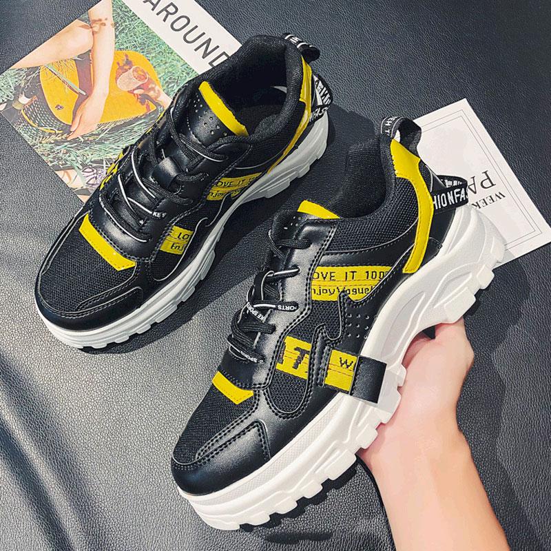 新款夏季港风青少年户外运动休闲网面透气潮鞋单鞋老爹潮男鞋 2019