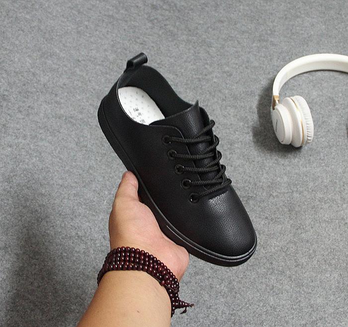 肯德基工作鞋女黑色皮鞋平底防滑软底低帮单鞋纯黑平跟舒适上班鞋
