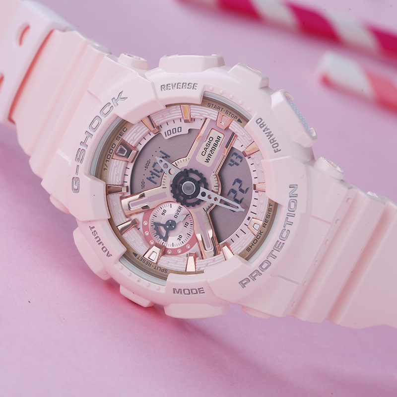 4A1 S110MP GMA 粉色运动防水电子表 SHOCK G 卡西欧手表女学生 Casio