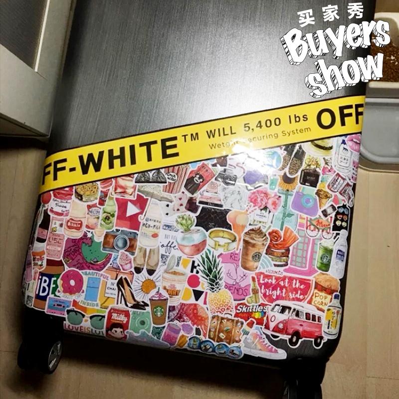 可爱文艺旅行箱贴纸网红笔记本吉他行李箱贴画防水箱贴纸ins女