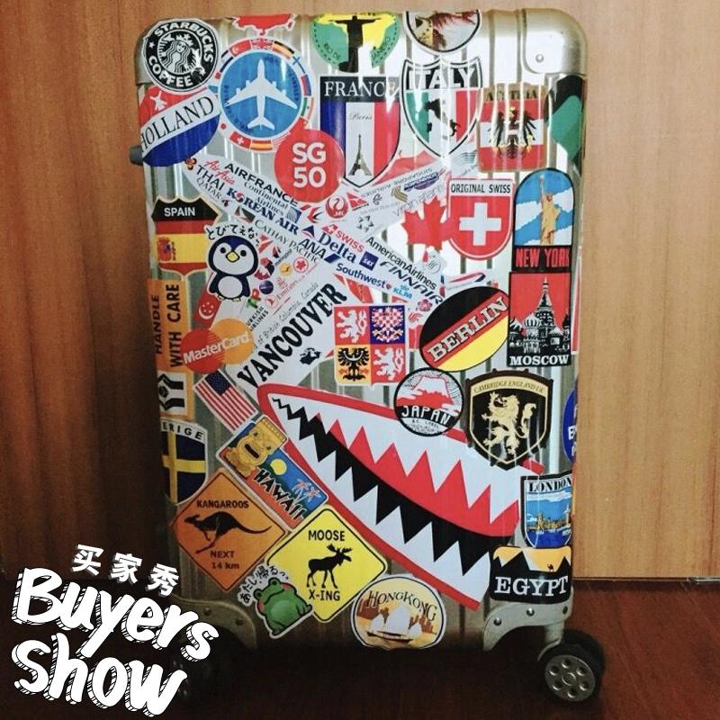 大张航空公司飞机旅行箱贴纸拉杆箱行李箱贴画滑板冰箱贴防水160