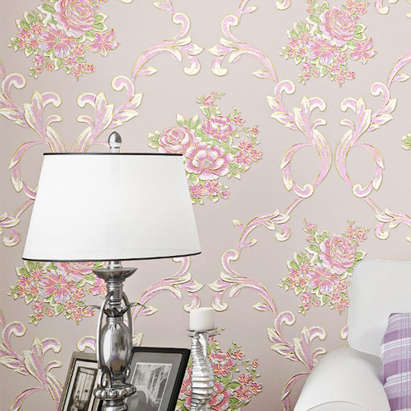 无纺布墙纸自粘卧室温馨女孩宿舍创意网红背景墙壁纸家用自贴客厅
