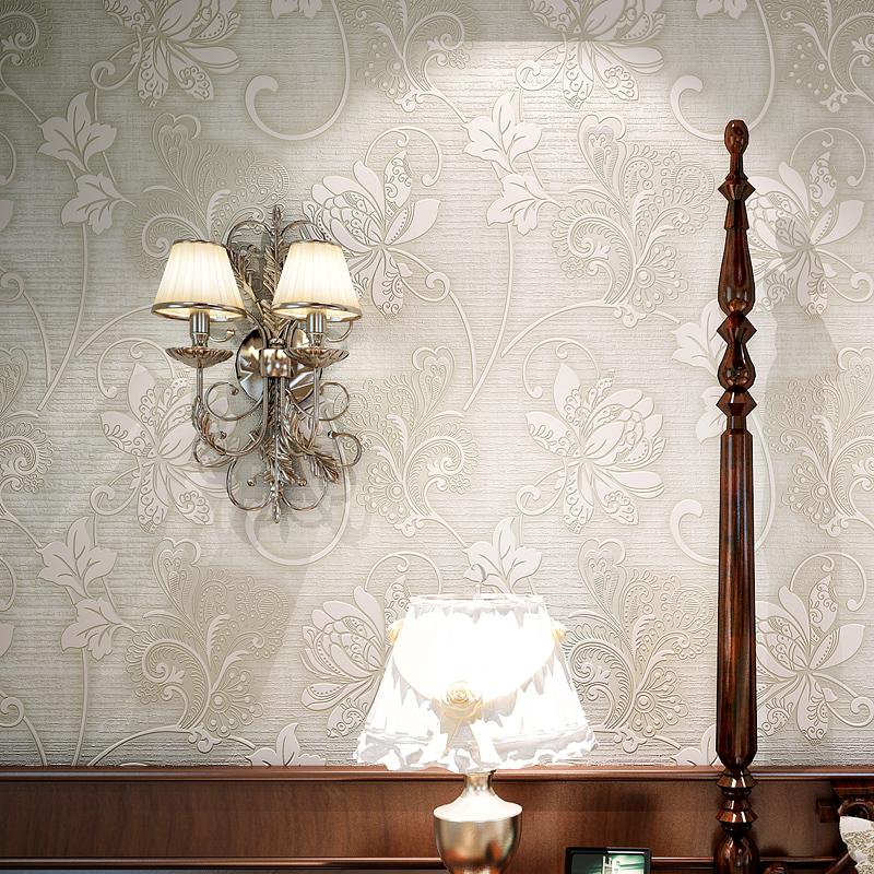 壁纸卧室温馨女孩客厅背景墙 立体墙贴自贴无纺布墙纸自粘 3d 欧式