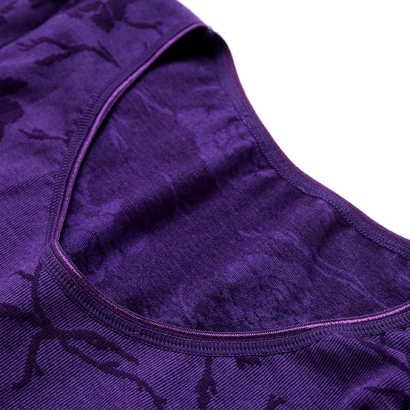 春季薄款内衣女士塑身美体套装瘦身秋衣秋裤打底棉毛衫
