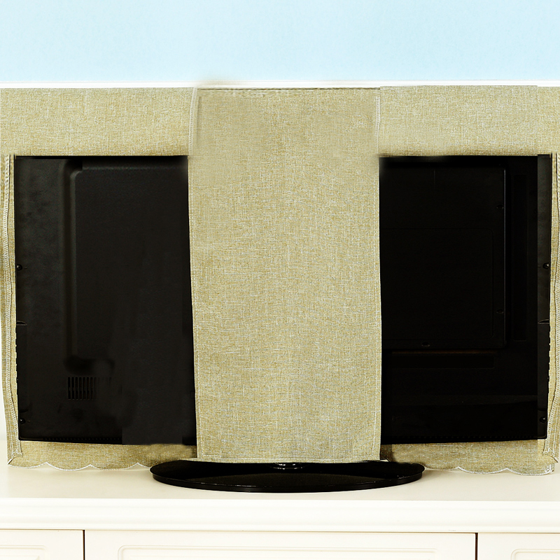 布艺挂式液晶电视机罩52 60寸 55寸绣花电视罩42寸防尘罩送遥控套