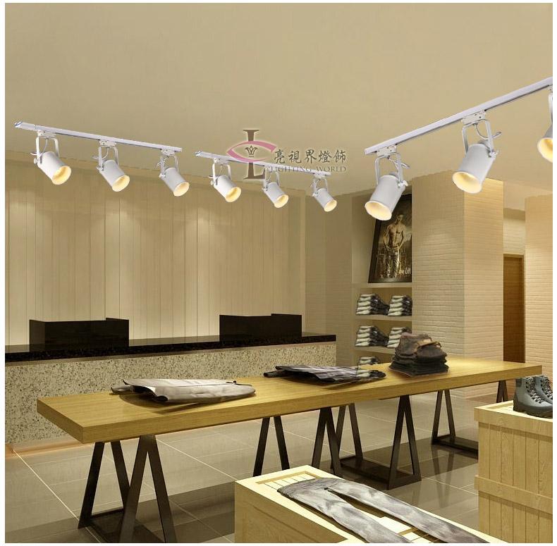 工业风复古轨道背景墙灯酒吧台个性创意服装店咖啡厅LED客厅射灯