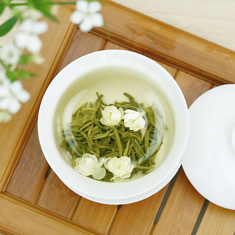 林湖飘雪2019新茶茉莉花茶高品质特级浓香型四川绿茶茶叶小包袋装