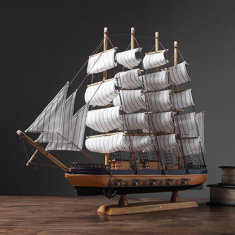 一帆风顺帆船摆件