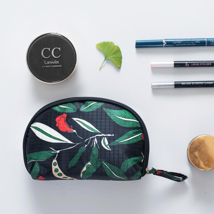 清倉貝殼化妝包韓版手拿半圓化妝品收納包 旅行便攜化妝袋隨身包