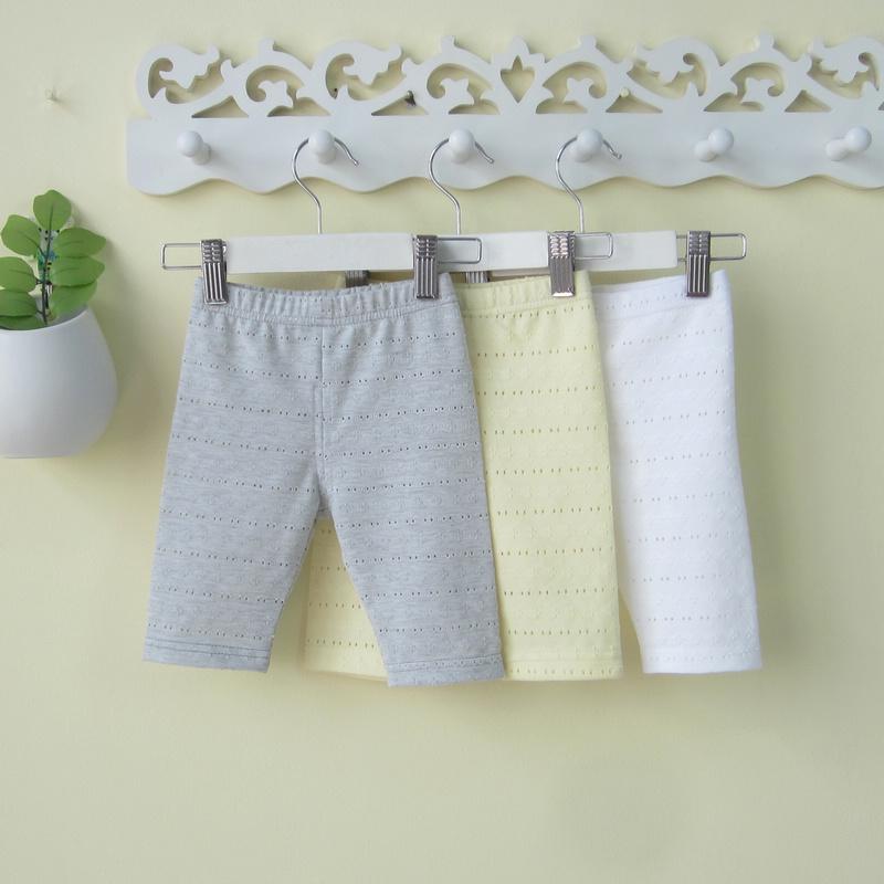 婴儿小女童装女宝宝夏装0-1-3岁4夏季镂空七分裤子打底裤夏天薄款
