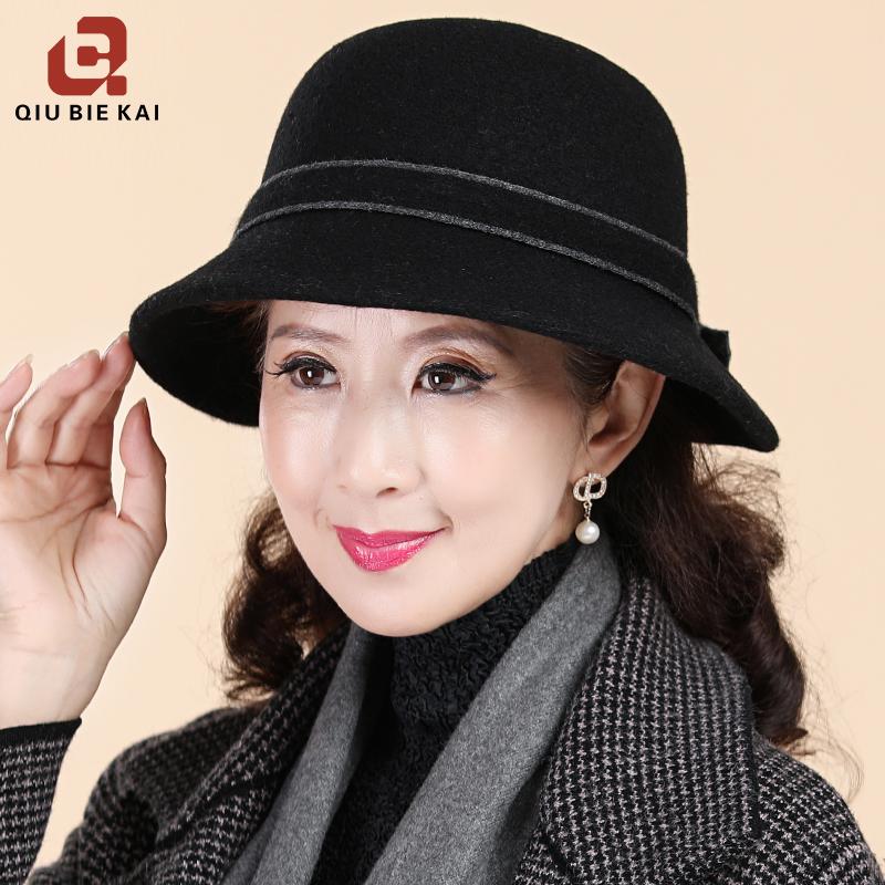 中老年人帽子女士秋冬季老人奶奶妈妈婆婆老太太冬天羊毛保暖盆帽