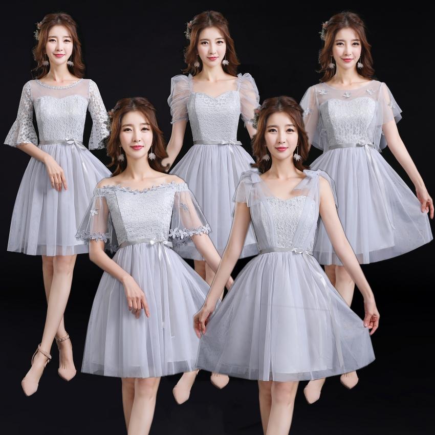 伴娘服2019春夏新款姐妹裙伴娘礼服显瘦伴娘团毕业季礼服裙表演服