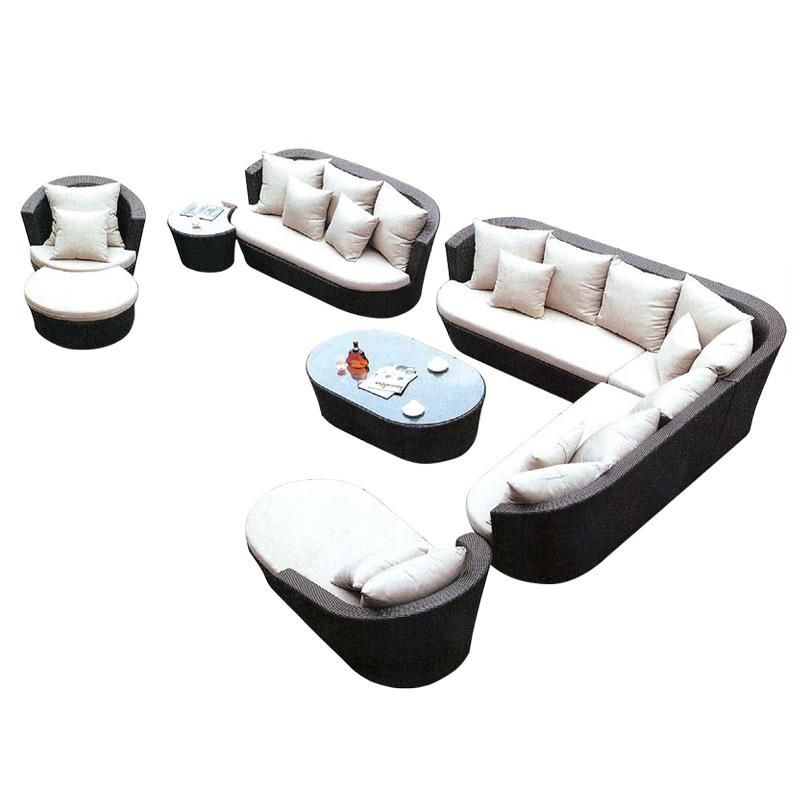 藤沙发椅组合客厅藤编户外阳光房沙发藤制藤条转角沙发藤艺家具