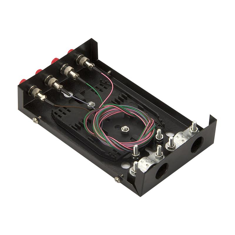 满配 光线盒熔接盒接续盒光缆接头盒含尾纤 光纤终端盒 FC 口 4 粤信