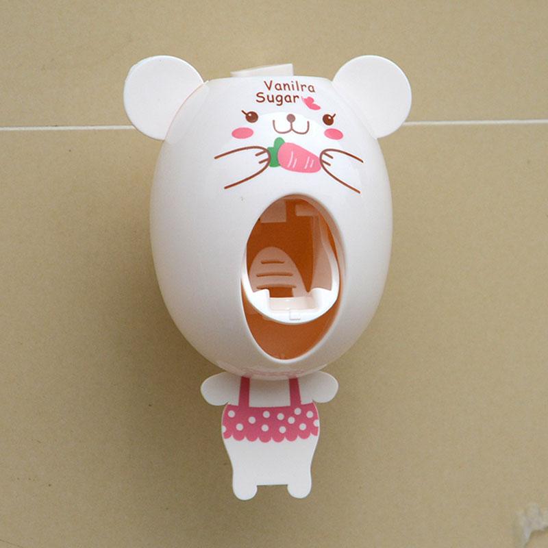 自动挤牙膏器 懒人牙膏挤压机 卡通动物造型挤牙膏 儿童情侣