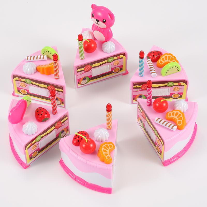 儿童过家家切蛋糕厨房宝宝水果6切切乐生日蛋糕4玩具女孩2套装3岁