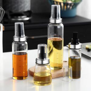 柔软硅胶刷头耐高温高硼硅玻璃油瓶