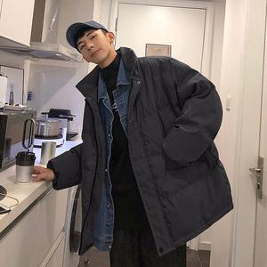 冬季棉服男韩版潮流国潮oversize工装服冬装2019年新款面包服棉衣
