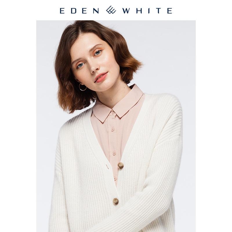 圣雪绒100%山羊绒中性oversize宽松慵懒北欧风加厚针织开衫