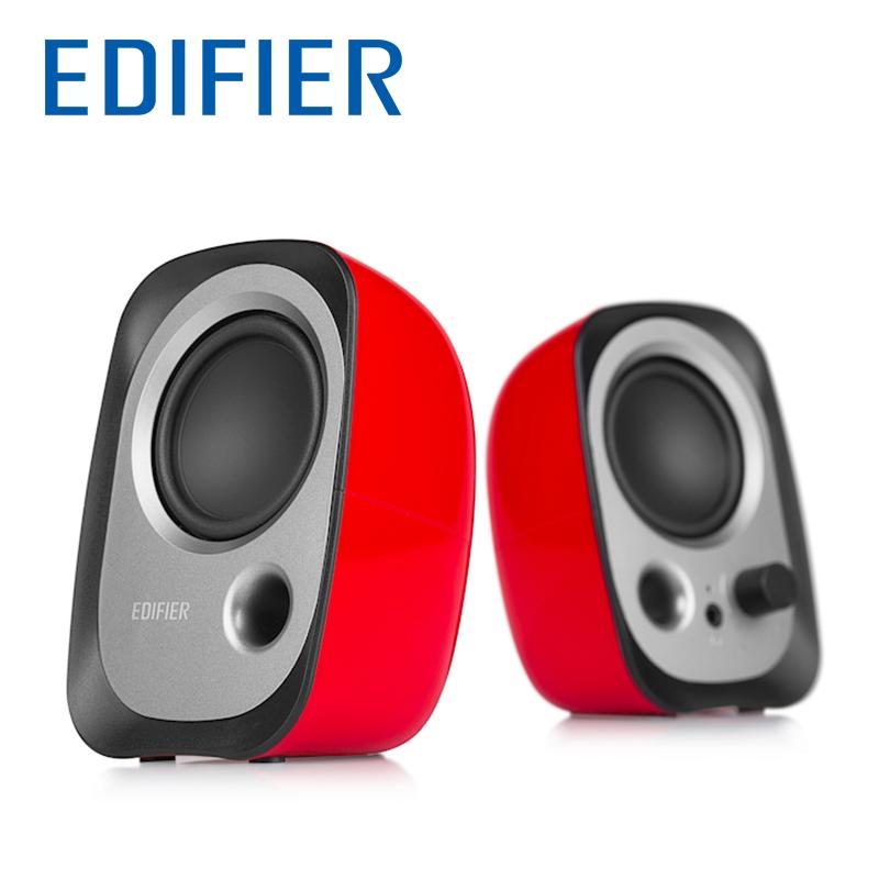 Edifier/漫步者R12U台式电脑音响2.0喇叭低音炮家用迷你笔记本多媒体usb接口有线游戏小音箱一对