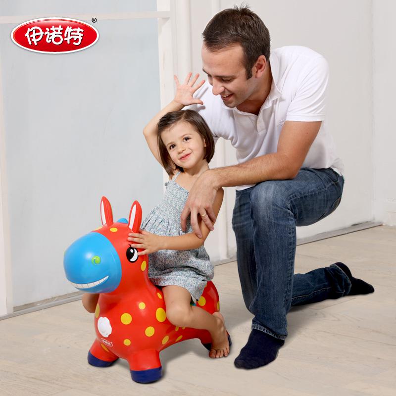伊诺特儿童充气玩具跳跳马音乐加大加厚宝宝坐骑小马玩具木马橡皮