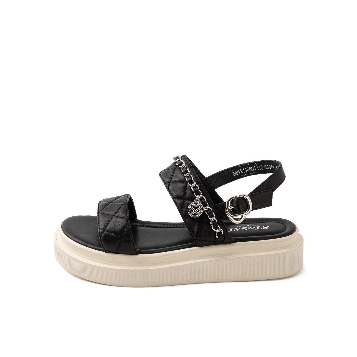 SS12115601 夏季新款露趾搭扣简约女鞋 2021 星期六运动凉鞋羊皮凉鞋