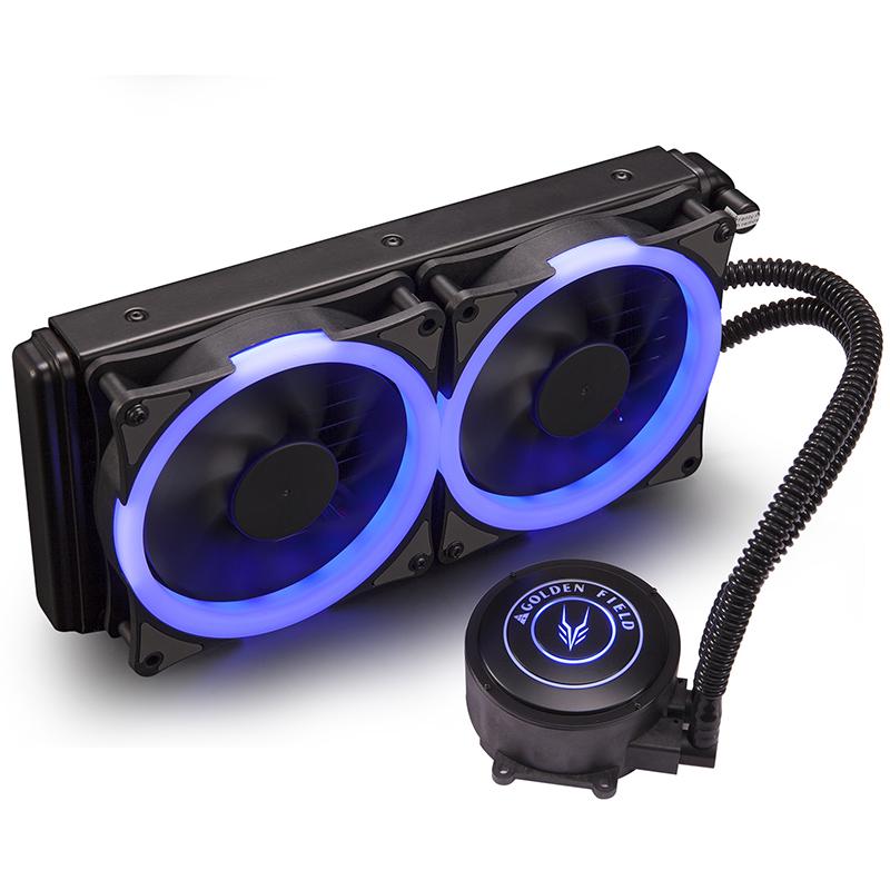 金河田蓝海120/240一体式水冷散热器套装台式电脑cpu水冷散热风扇