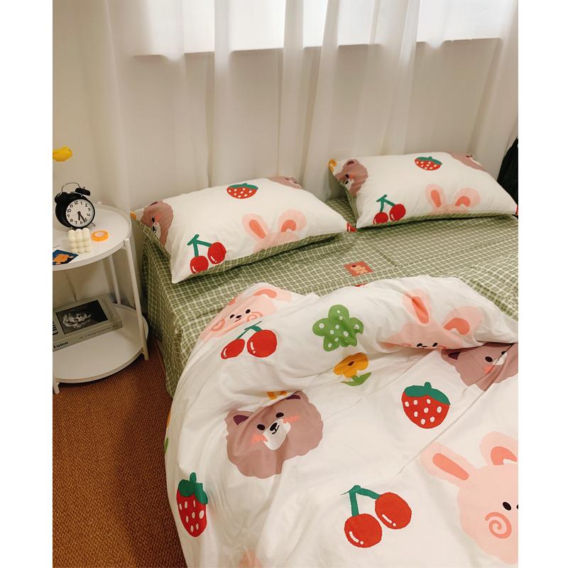 床笠款三件套床上用品