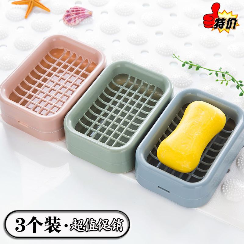 3个香皂盒浴室沥水双层北欧肥皂盒创意新款塑料旅行手工皂托皂架